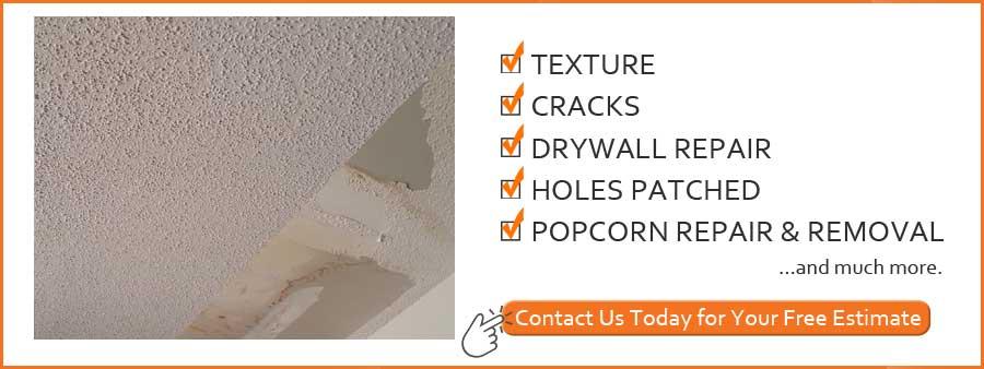 100  Repair Popcorn Ceiling Ceiling Repair U0026 Popcorn Rem